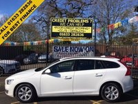 USED 2014 14 VOLVO V60 2.0 D3 BUSINESS EDITION 5d 134 BHP 1 OWNER, STUNNING EXECUTIVE ESTATE CAR, STUNNING SOLID WHITE PAINT WORK, CHARCOAL GREY LUXURY CLOTH INTERIOR, HEATED FRONT SEATS, ALLOY WHEELS, SAT NAVIGATION, BLUE TOOTH, AIRCON