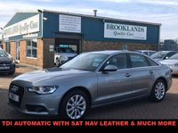 USED 2012 12 AUDI A6 2.0 TDI SE 4d AUTO 175 BHP Comfort with Lots and Spec inc Paddle Shift SAT NAV Full Leather and lots more