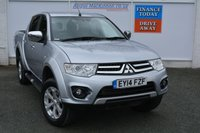 USED 2014 14 MITSUBISHI L200 2.5 DI-D 4X4 WARRIOR LB DCB 1d 175 BHP LOW MILEAGE PICKUP READY FOR WORK OR PLAY