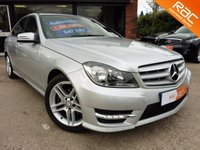 "USED 2013 63 MERCEDES-BENZ C CLASS 2.1 C220 CDI BLUEEFFICIENCY AMG SPORT 4d AUTO 168 BHP ONE OWNER, SAT NAV, FULL LEATHER INTERIOR, 17"" ALLOYS, PARKING SENSORS, CRUISE CONTROL, FULL MAIN DEALER SERVICE HISTORY"
