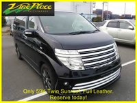 USED 2004 NISSAN ELGRAND Rider Autec 3.5 Automatic 8 Seats Full Leather +FULL LEATHER+TWIN SUNROOFS+AVAILABLE JUNE+RESERVE TODAY+