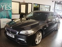 USED 2012 62 BMW 5 SERIES 3.0 530D M SPORT 4d AUTO 255 BHP Two owners, BMW service history, Finished in Sophisto Grey with Black Dakota leather