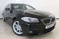 USED 2012 62 BMW 5 SERIES 2.0 520D M SPORT 4DR AUTOMATIC 181 BHP SERVICE HISTORY + 0% FINANCE AVAILABLE T&C'S APPLY + FULL HEATED LEATHER + CLIMATE CONTROL + SAT NAVIGATION + PARKING SENSORS + BLUETOOTH + 18 INCH ALLOY WHEELS