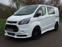 2014 FORD TRANSIT CUSTOM 2.2 290 LR DCB 6 SEAT FACTORY CREW VAN RS STYLING PACK ALLOYS  £14495.00