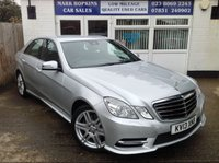 USED 2013 13 MERCEDES-BENZ E CLASS 2.1 E220 CDI BLUEEFFICIENCY S/S SPORT 4d AUTO 170 BHP ** 37K. FSH ** ONE LADY DRIVER ** MERCEDES QUALITY & LUXURY **