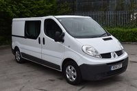 USED 2012 61 RENAULT TRAFIC 2.0 LL29 DCI S/R W/V 6d 115 BHP LWB 6 SEATER COMBI/CREW VAN  ONE OWNER,FSH,AIR CON,SAT NAV.EURO 5 ENGINE