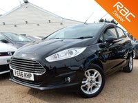 USED 2016 66 FORD FIESTA 1.0 ZETEC 5d 99 BHP Ford Warranty, Bluetooth & more