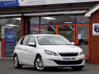 USED 2014 64 PEUGEOT 308 1.6 HDi ACTIVE 5dr * Pearl White & Sat Nav * *ONLY 9.9% APR with FREE Servicing*