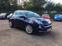 USED 2014 64 VAUXHALL ADAM 1.2i GLAM 3dr  PANORAMIC ROOF, BLUETOOTH AND ALLOY WHEELS  NO DEPOSIT PCP/HP FINANCE ARRANGED, APPLY HERE NOW