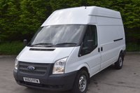 USED 2014 63 FORD TRANSIT 2.2 T350 RWD 5d 124 BHP LWB HIGH ROOF DIESEL MANUAL PANEL VAN  ONE OWNER,FSH,EURO 5 ENGINE,SIX SPEED GEARBOX