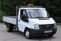 USED 2011 11 FORD TRANSIT 2.4 350 DRW 2d 115 BHP RWD MWB TWIN WHEEL DIESEL MANUAL DROPSIDE LORRY ONE OWNER FULL S/H SPARE KEYS