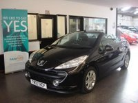USED 2007 07 PEUGEOT 207 1.6 SPORT COUPE CABRIOLET 2d 118 BHP Four seat hardtop Cabriolet with history & November Mot