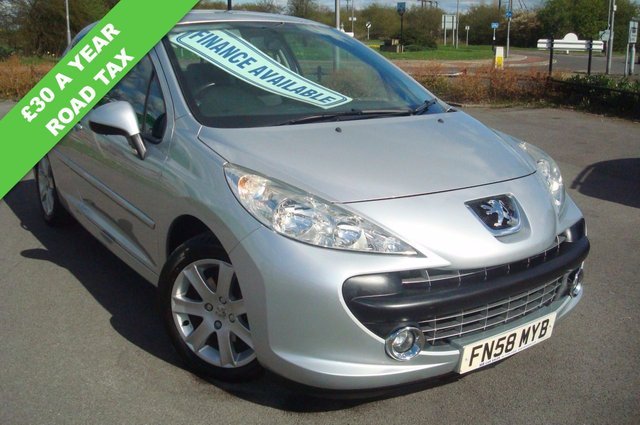 2008 58 PEUGEOT 207 1.6 SPORT 3d 89 BHP £30 A YEAR TAX 62MPG