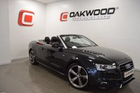 USED 2012 12 AUDI A5 2.0 TDI S LINE CONVERTIBLE S/S 177 BHP SAT NAV + FULL LEATHER