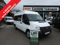 USED 2013 13 FORD TRANSIT 2.2 300 SHUTTLE 9 SEAT 125 BHP FULL SERVICE HISTORY MWB MINIBUS 9 SEAT MINIBUS SHUTTLE 1 OWNER FSH