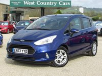 USED 2013 63 FORD B-MAX 1.0 ZETEC 5d 100 BHP £30 For A Years Tax And 50MPG