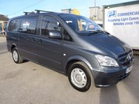 USED 2015 15 MERCEDES-BENZ VITO 113 CDI 6 SEATER DUALINER, 136 BHP [EURO 5], AUTOMATIC, FRONT REAR PARK ASSIST