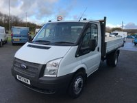 2013 FORD TRANSIT T350 2.2 TDCi 125 6 Speed MWB RWD TIPPER  £SOLD
