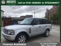 USED 2004 54 LAND ROVER RANGE ROVER 2.9 TD6 5d AUTO 175 BHP LOW RATE FINANCE,PX WELCOME,SAT NAV,BLUETOOTH,HEATED SEATS