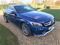 USED 2017 17 MERCEDES-BENZ C CLASS 2.1 C 250 D AMG LINE PREMIUM 4d AUTO 204 BHP HEATED LEATHER, PARK ASSIST, BLUETOOTH, SATNAV