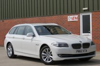 USED 2012 62 BMW 5 SERIES 2.0 520D SE TOURING 5d AUTO 181 BHP FULL LEATHER, HEATED SEATS, FULL SERVICE HISTORY, SAT NAV