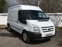 USED 2012 62 FORD TRANSIT TREND - 350 2.2 125 BHP MWB M/R - CHOICE OF 70 VANS