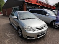 USED 2005 05 TOYOTA COROLLA 1.4 COLOUR COLLECTION D-4D 5d AUTOMATIC 89 BHP DIESEL IN SILVER APPROVED CARS ARE PLEASED TO OFFER THIS TOYOTA COROLLA 1.4 COLOUR COLLECTION D-4DIESEL 5 DOOR AUTOMATIC 89 BHP DIESEL IN SILVER WITH A FULL TOYOTA SERVICE HISTORY SERVICED AT 6K,14K,23K,30K,39K AND 60K. A STUNNING LITTLE AUTOMATIC FAMILY CAR WITH A GREAT SERVICE HISTORY.