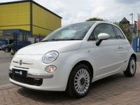 USED 2012 12 FIAT 500 1.2 LOUNGE 3d  PANORAMIC ROOF ~ FULL FIAT HISTORY ~ BLUE&ME ~ ALLOYS ~ AIR CON