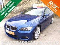 USED 2009 09 BMW 3 SERIES 330D M SPORT HIGHLINE COUPE DIESEL AUTO RARE LE MANS BLUE - M SPORT LEATHER - NAV - 19 INCH TWIN SPOKE ALLOYS