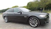 "USED 2013 63 BMW 5 SERIES 2.0 525D M SPORT 4d AUTO 215 BHP FULL SERVICE HISTORY, SAT-NAV, 18""ALLOYS, DAKOTA LEATHER, 1 OWNER, AIR-CON,CHOICE OF 2"