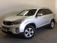 USED 2013 62 KIA SORENTO 2.2 CRDI KX-2 5d 194 BHP 4WD FACELIFT LEATHER ONE OWNER FSH 4WD. FACELIFT MODEL. 7 SEATER. STUNNING SILVER WITH FULL BLACK LEATHER TRIM. HEATED SEATS. CRUISE CONTROL. 17 INCH ALLOYS. COLOUR CODED TRIMS. PRIVACY GLASS. PARKING SENSORS. BLUETOOTH PREP. CLIMATE CONTROL. TRIP COMPUTER. R/CD PLAYER. 6 SPEED MANUAL. MFSW. TOWBAR. MOT 01/18. ONE OWNER FROM NEW. FULL DEALER SERVICE HISTORY. PRISTINE CONDITION. FCA FINANCE APPROVED DEALER. TEL 01937 849492