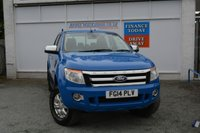 USED 2014 14 FORD RANGER 2.2 XLT 4X4 DCB TDCI 1d 148 BHP READY FOR WORK PICKUP WITH AIRCON, CRUISE CONTROL AND BLUETOOTH