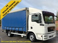 USED 2010 10 MAN TGL 7.180 Day 15ft Curtain sider Body [A/C] Barn doors  Low Mileage Free UK Delivery