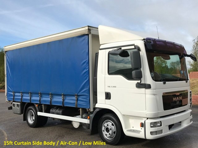 2010 10 MAN TGL 7.180 Day 15ft Curtain sider Body [A/C] Barn doors  Low Mileage Free UK Delivery
