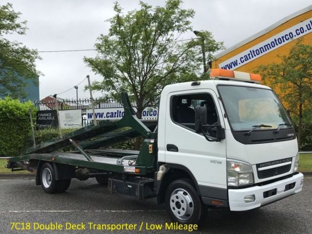2009 59 MITSUBISHI FUSO CANTER 75 DAY 7C18 Double Deck Transporter 7500kgs