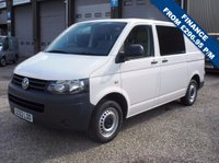 USED 2013 62 VOLKSWAGEN TRANSPORTER T28 2.0TDi 102PS 6 SEAT KOMBI VAN ONE CO. OWNER - ONLY 70,000m