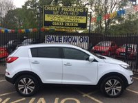 USED 2013 13 KIA SPORTAGE 2.0 CRDI KX-3 5d 134 BHP STUNNING KIA WHITE PAINT WORK, FULL BLACK LEATHER INTERIOR, BLUE TOOTH, FRONT AND REAR PARKING SENSORS, FULL GLASS PANORAMIC SUNROOF, 18 INCH POLISHED ALLOY WHEELS, PDC, 1 OWNER WITH KIA SERVICE HISTORY