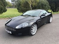 USED 2005 55 ASTON MARTIN DB9 5.9 V12 2d AUTO 451 BHP FACELIFT LOOK DB9 IN BLACK WITH BLACK LEATHER BACKED UP BY FULL SERVICE HISTORY