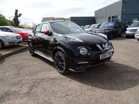 USED 2014 R NISSAN JUKE 1.6 NISMO RS DIG-T 5d AUTO 214 BHP NISSAN WARRANTY TILL JUNE 2017 GREAT 4X4 VERY HIGH SPECD WITH SURROUND CAMERA SAT NAV TELEPHONE PREP RECARO SPORTS SEATS PARK DISTANCE CONTROL ETC