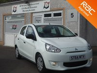 USED 2014 64 MITSUBISHI MIRAGE 1.0 1 5d 70 BHP Zero Road Tax , Low Mileage