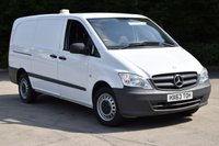USED 2013 63 MERCEDES-BENZ VITO 2.1 113 CDI 6d 136 BHP LWB FWD DIESEL MANUAL  PANEL VAN ONE OWNER FULL S/HISTORY SPARE KEY