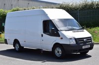 USED 2013 13 FORD TRANSIT 2.2 350 5d 125 BHP EURO 5 LWB RWD JUMBO HIGH ROOF DIESEL MANUAL VAN  TWO OWNER, S/HISTORY ECO DRIVE