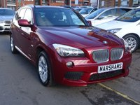 USED 2011 11 BMW X1 2.0 XDRIVE23D M SPORT 5d 201 BHP VERMILLION RED/CHARCOAL M SPORT TRIM