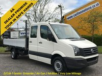 USED 2010 60 VOLKSWAGEN CRAFTER CR35 2.5TDi AD-BLUE D/CAB 7seat Dropside [ Low Mileage 17k ]  XBG Free UK Delivery