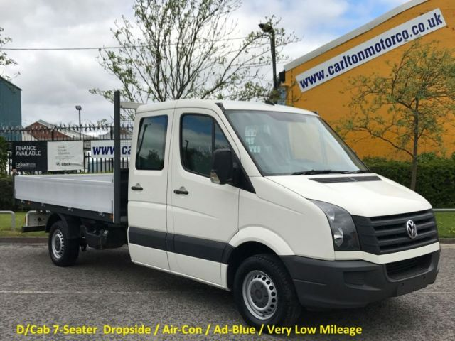 2010 60 VOLKSWAGEN CRAFTER CR35 2.5TDi AD-BLUE D/CAB 7seat Dropside [ Low Mileage 17k ]  XBG Free UK Delivery