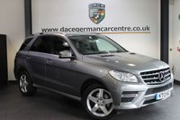USED 2013 13 MERCEDES-BENZ M CLASS 3.0 ML350 BLUETEC AMG SPORT 5DR AUTO 258 BHP + HALF BLACK LEATHER INTERIOR + FULL MERC SERVICE HISTORY + SATELLITE NAVIGATION + BLUETOOTH +  CRUISE CONTROL + AMG SPORT PACKAGE + PARKING SENSORS + 19 INCH ALLOY WHEELS +