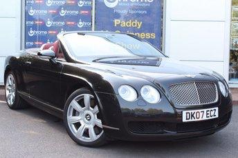 2007 BENTLEY CONTINENTAL 6.0 GTC 2d 550 BHP £37990.00