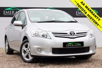 USED 2010 10 TOYOTA AURIS 1.6 TR VALVEMATIC 5d 132 BHP £0 DEPOSIT FINANCE AVAILABLE, LOW MILEAGE, 12 MONTHS MOT, FULL TOYOTA SERVICE HISTORY