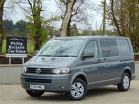 USED 2013 63 VOLKSWAGEN TRANSPORTER 2.0 T30 TDI KOMBI 140 BHP FULL  SERVICE HISTORY, 5 SEATS, COLOUR CODED, HALF LEATHER