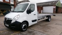 USED 2011 61 VAUXHALL MOVANO 2.3 R3500 L4H1 CDTI DRW 1d 124 BHP CAR TRANSPORTER WITH NEW 18 ft  BACK